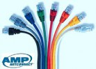 Patch Cord Cat6 Rojo  10 pies Linea SL Color Boot Delgado y Plug Alto Rendimiento